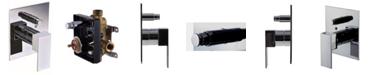 ALFI brand Polished Chrome Modern Square Pressure Balanced Shower Mixer with Diverter