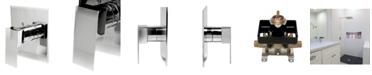 ALFI brand Polished Chrome Modern Square Pressure Balanced Shower Mixer