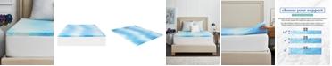 """Sealy 1.5"""" Gel Memory Foam Mattress Topper , Twin XL"""
