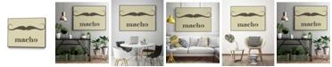 "Giant Art 28"" x 22"" Macho Art Block Framed Canvas"