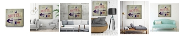 """Giant Art 20"""" x 20"""" Carl's Motel Sign Museum Mounted Canvas Print"""