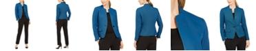 Le Suit One-Button Contrast-Color Pantsuit