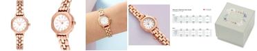 Olivia Burton Women's Rose Gold-Tone Stainless Steel Bracelet Watch 23mm