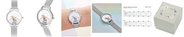 Olivia Burton Women's Illustrated Animals Stainless Steel Mesh Bracelet Watch 30mm
