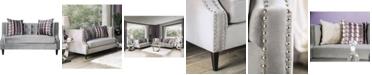 Furniture of America Niranda Upholstered Love Seat