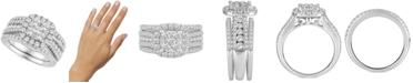 Macy's Diamond 3-Pc. Bridal Set (2 ct. t.w.) in 14k White Gold