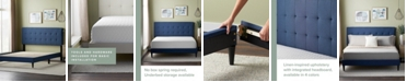 Dream Collection UpholsteredPlatformBed Frame withSquare TuftedHeadboard, California King