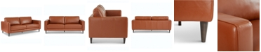 """Furniture Jennis 78"""" Leather Sofa, Created for Macy's"""