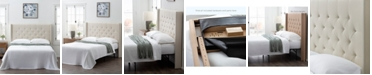 Dream Collection Wingback Queen SizeUpholsteredHeadboard