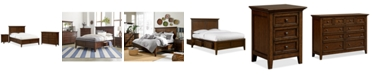 Furniture Matteo Storage Platform Bedroom 3 Piece Bedroom Set, Created for Macy's,  (Full Bed, Dresser and Nightstand)