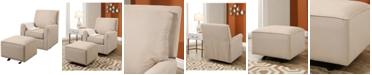 Abbyson Living CLOSEOUT! Templen Glider Chair and Ottoman