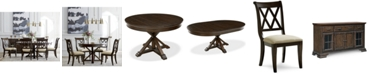 Furniture Baker Street Round Expandable Dining Furniture Collection, Created for Macy's