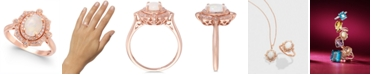 EFFY Collection Aurora by EFFY® Opal (5/8 ct. t.w.) and Diamond (1/6 ct. t.w.) Oval Ring in 14k Rose Gold