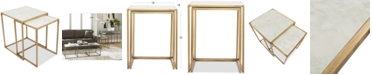 Furniture Isla Marble 2-Pc. Square Nesting End Table
