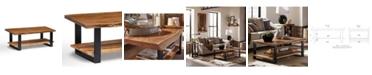 Alaterre Furniture Alpine Natural Live Edge Wood Large Coffee Table