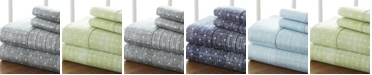 ienjoy Home The Timeless Classics by Home Collection Premium Ultra Soft Pattern 4 Piece Bed Sheet Set - King