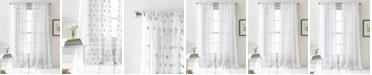 "DKNY Ella Pompom Dot 50"" x 84"" Sheer Curtain Set"