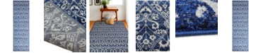 "BB Rugs Medley 5439A Dark Blue 2'6"" x 8' Runner Area Rug"