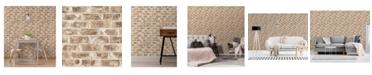 "Brewster Home Fashions Jomax Warehouse Brick Wallpaper - 396"" x 20.5"" x 0.025"""