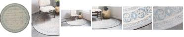 Bridgeport Home Bellmere Bel4 Gray 8' x 8' Round Area Rug
