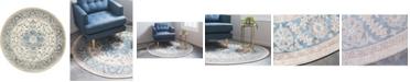 Bridgeport Home Bellmere Bel2 Ivory 5' x 5' Round Area Rug