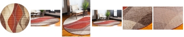 Bridgeport Home Jasia Jas04 Multi 8' x 8' Round Area Rug