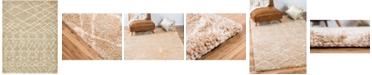Bridgeport Home Fazil Shag Faz2 Tan 9' x 12' Area Rug