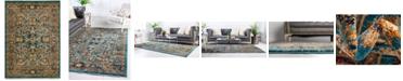 Bridgeport Home Thule Thu1 Turquoise 4' x 6' Area Rug