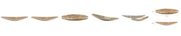 Howard Elliott Textured Aluminum Elongated Gold Bowl- Small