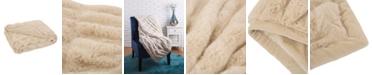 Glitzhome Faux Fur Elastic Throw/Blanket
