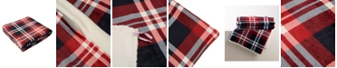 Glitzhome Flannel Plaid Reversible Duvet Cover, Twin