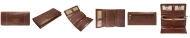 Mancini Casablanca Collection RFID Secure Ladies Trifold Wallet