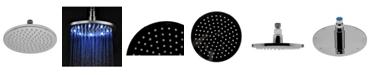 "ALFI brand Polished Chrome 8"" Round Multi Color LED Rain Shower Head"