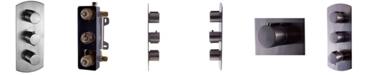 ALFI brand Brushed Nickel Round 2 Way Thermostatic Shower Mixer