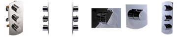 ALFI brand Polished Chrome Round 2 Way Thermostatic Shower Mixer