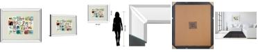 "Classy Art Animal ABCW by Julian Phillips Mirror Framed Print Wall Art, 34"" x 40"""