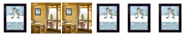 "Trendy Decor 4U Trendy Decor 4U Trendy Snowman By Diane Arthur, Printed Wall Art, Ready to hang, Black Frame, 10"" x 14"""