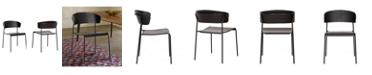 Armen Living Zeph Dining Chair, Set of 2