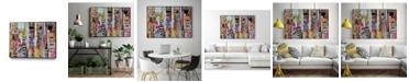 "Giant Art 14"" x 11"" Metro Mix 21 II Art Block Framed Canvas"