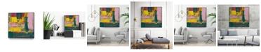 """Giant Art 30"""" x 30"""" City Lights II Art Block Framed Canvas"""