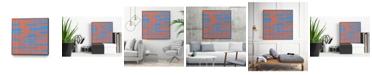 "Giant Art 30"" x 30"" Modern Circuit VI Art Block Framed Canvas"