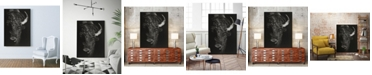 "Giant Art 40"" x 30"" Glimpse I Art Block Framed Canvas"