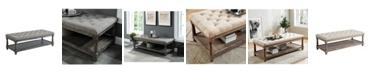 Furniture of America Loretta Linen Seat Tufted Bench