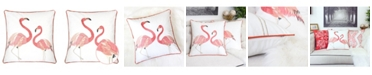 Homey Cozy Flamingos Square Decorative Throw Pillow