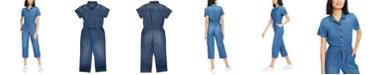 OAT Cotton Denim Drawstring Jumpsuit