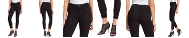 Skinnygirl Todd Mid-Rise Zipper-Trim Skinny Ankle Jeans