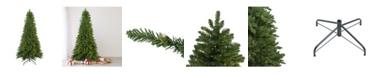 Northlight Pre-Lit Slim Eastern Pine Artificial Christmas Tree-Clear Lights