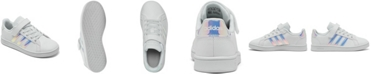 adidas Little Girls Grand Court Stay-Put Casual Sneakers from Finish Line