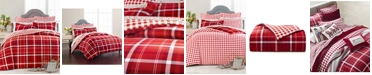 Martha Stewart Collection Wyoming Plaid Flannel Twin Duvet Cover, Created for Macys