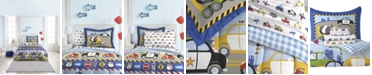 Dream Factory Trains And Trucks Twin Comforter Set